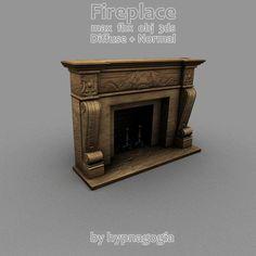 Fireplace - 3D Model - ShareCG