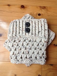 Custom Crochet Boot Cuffs - Color: Snowy Owl With Buttons on Etsy, $13.00