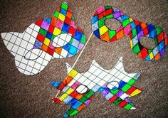 Masques Carnaval--very colorful idea and simple to make - knutselen - Diy And Crafts, Arts And Crafts, Paper Crafts, Theme Carnaval, Diy For Kids, Crafts For Kids, Carnival Crafts, Carnival Tent, Carnival Dress