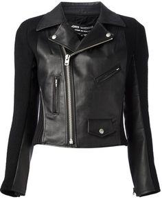 Junya Watanabe Comme Des Garçons faux leather biker jacket on shopstyle.com