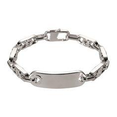 Links of London Mens Soho Dog Tag Sterling Silver Bracelet Jewellery Gift New
