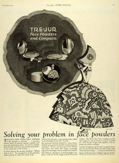 1925 Ad Tre-Jur Face Powder Compacts