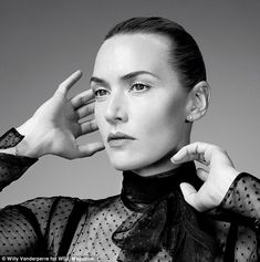 Exquisite: The Titanic actress is captured in purely black and white for a very beautiful photoshoot
