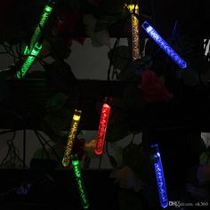 Holiday Light 20 Led LED RGB Solar Led Strings Bubble Rose Lamp Tube Light Xmas Wedding Party Christmas Decoration Lamps LED Strip Light Online with $11.0/Piece on Ok360's Store | DHgate.com