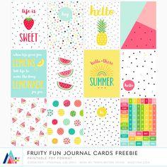 FREE {PRINTABLE} Fruity Fun Journal Cards