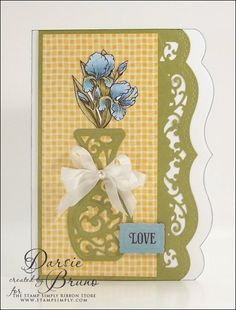 spellbinders ribbon banners | LOVE all the open filigree detail on this card and the beautiful ...