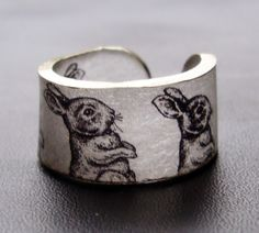 Bunnies Ring  Choose Your Size by dillondesigns on Etsy, $5.99