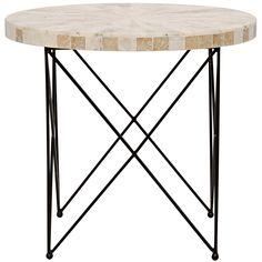 Noir Morcheeba Petrified Wood Side Table #zincdoor