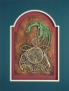 Celtic Dragon   Cast Paper  Fantasy art  Celtic by Castpaper, $130.00