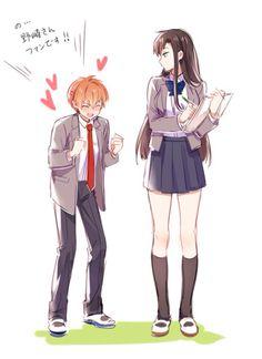 grafika anime and gekkan shoujo nozaki-kun M Anime, Anime Love, Kawaii Anime, Anime Guys, Tsundere, Haikyuu Fanart, Haikyuu Anime, Tall Girl Short Guy, Monthly Girls' Nozaki Kun