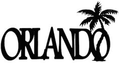 Orlando Scrapbooking Laser Cut Title With Palm Tree