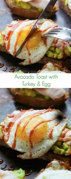 Avocado Toast with Turkey and Egg Recipe - An easy healthy satisfying meal perfect for breakfast lunch or dinner!