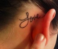 love behind the ear tattoo - Google Search