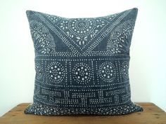 18x18 Vintage Indigo Batik Pillows Old Chinese