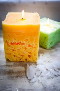 How to Make Ice DIY Candles | HelloNatural.co