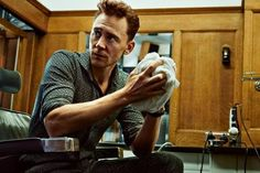 Tom Hiddleston at the barber shop for a photo shoot | #ES Magazine