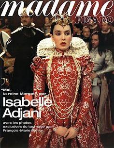"Isabelle Adjani as Marguerite de Valois, the wedding scene from the 1994 film ""La Reine Margot'."
