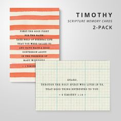 Image of 2 Scripture Memory Cards | Letters to Timothy Pack