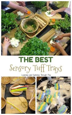 Sensory Tuff Trays for Preschool and Early Years Are you looking for some Tuff Tray inspiration? Here is a great collection of Sensory Tuff Trays perfect for children in the Early Years and beyond. Eyfs Activities, Nursery Activities, Spring Activities, Activities For Kids, Baby Sensory, Sensory Bins, Sensory Table, Curiosity Approach Eyfs, Tuff Spot