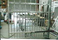 Working on Rising hinge gate in Workshop