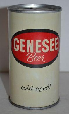 "Vintage Genesee Beer Can Pull Tab 12 FL.OZ. Rochester, N.Y. ""cold-aged!"" #GeneseeCreamAle"