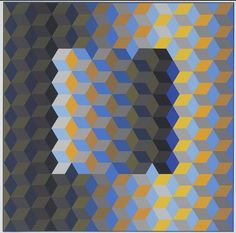MEH2, from the series of eight prints Homage to the Hexagon 1969 Artist Victor Vasarely, French (born in Hungary), 1908–1997