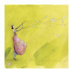 """Carte carrée Gaëlle Boissonnard """"Le bouquet de violettes"""""""
