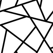 Abstract Geometric Black on White Large by sierra_gallagher