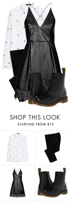 """Concert Attire"" by gummybear03 ❤ liked on Polyvore featuring MANGO, Old Navy, Topshop and Dr. Martens"