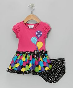 Take a look at this Pink Balloon Dress & Diaper Cover - Infant, Toddler & Girls by Gerson & Gerson on #zulily today!