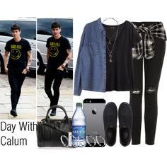 Day With Calum by the4dipshits on Polyvore featuring H&M, Topshop, Vans, Alexander Wang, ASOS and NARS Cosmetics