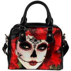 InterestPrint Sugar Skull Women's Shoulder Handbag/Tote Bag/Travel... ($37) ❤ liked on Polyvore featuring bags, handbags, tote bags, skull handbags, purse shoulder bag, man shoulder bag, tote hand bags and shoulder tote handbags