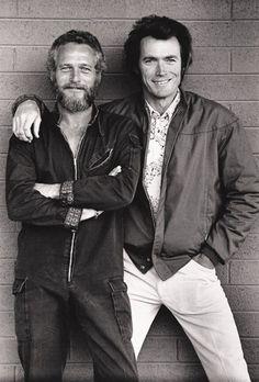 Paul and Clint.  Paul's denim jumpsuit is sweet