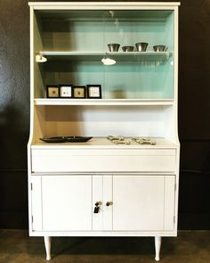 Mid Century China Cabinet Painted By The Distressed Gentleman With Sherwin  Williams Origami White.