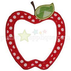 Whimsical Apple Applique