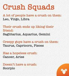 my whole squad zodiac sign is under the first one