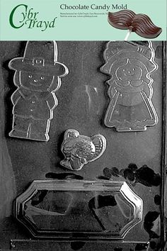 Cybrtrayd T031 Thanksgiving Centerpiece Life of the Party Chocolate Candy Mold with Exclusive Cybrtrayd Copyrighted Chocolate Molding Instructions