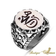 #unique Hand Made Silver Ivory None Ring  #jewelry #ottoman