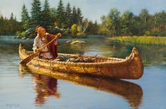 Find artworks by Robert Griffing (American, on MutualArt and find more works from galleries, museums and auction houses worldwide. Native American Paintings, Native American Artists, Native American History, Old West, Woodland Indians, The Longest Journey, Canoe And Kayak, Canoe Boat, Jon Boat