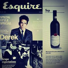 Esquire UK 2016 e Brunello di Montalcino Mastrojanni