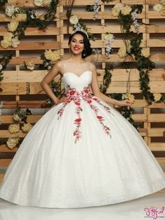 Quinceanera dresses, decorations, tiaras, favors, and supplies for your quinceanera! Many quinceanera dresses to choose from! Quinceanera packages and many accessories available! Quince Dresses Mexican, Mexican Quinceanera Dresses, Quinceanera Planning, Quinceanera Decorations, Quinceanera Party, Baptism Decorations, White Quince Dresses, Xv Dresses, Fashion Dresses
