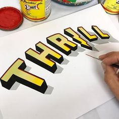 Likes, 24 Comments - Goodtype Types Of Lettering, Brush Lettering, Lettering Design, Chalk Lettering, Lettering Ideas, Painted Letters, Painted Signs, Hand Painted, 3d Letters
