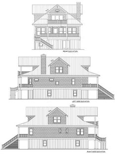 159 best beach house narrow lot plans images on Pinterest | Modern ...