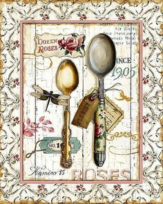 Lisa Audit Rose Garden Utensils II print for sale. Shop for Lisa Audit Rose Garden Utensils II painting and frame at discount price, ships in 24 hours. Cheap price prints end soon.