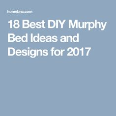 18 Best DIY Murphy Bed Ideas and Designs for 2017