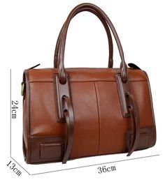 SAIERLONG Women's Cross Body Bag Handbag Tote brown Cow Leather - Knight handbag Embossed Lichee Pattern: Amazon.ca: Luggage & Bags