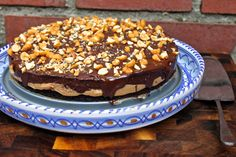 Vegans and non-vegans alike will love this Peanut Butter Chocolate Mousse Cake!