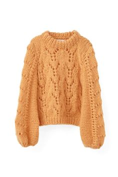 Faucher Pullover, Russet Orange See other ideas and pictures from the category menu…. Beige Pullover, Handgestrickte Pullover, Beige Sweater, Pull Beige, Chunky Knitwear, Orange Sweaters, Hand Knitted Sweaters, Mode Style, Jackets