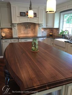 Custom Walnut Kitchen Island Countertop In Columbia Maryland Https Www Glumber