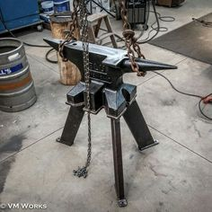 Hay Budden Blacksmith Anvil 300 Pounds With Stand